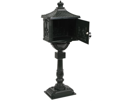 vidaXL Sockel-Briefkasten Aluminium Vintage Style Rostfrei Grün[8/13]