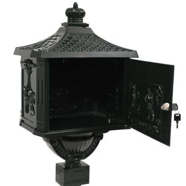 vidaXL Sockel-Briefkasten Aluminium Vintage Style Rostfrei Grün[9/13]