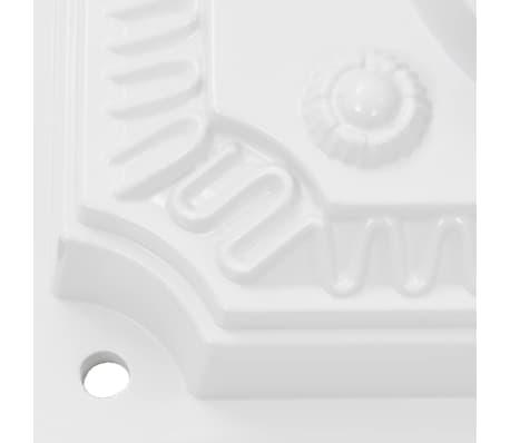 vidaXL Cutie poștală cu picior, aluminiu, vintage, inoxidabilă, alb[11/13]