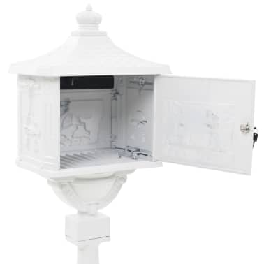 acheter vidaxl bo te aux lettres sur pied aluminium vintage antirouille blanc pas cher. Black Bedroom Furniture Sets. Home Design Ideas
