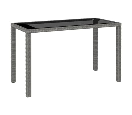 vidaXL 6 Piece Outdoor Dining Set with Cushions Poly Rattan Gray[5/11]