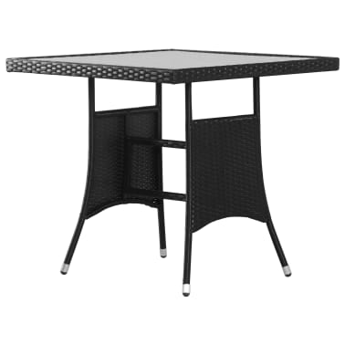 Acheter vidaXL Table de jardin Noir 80x80x74 cm Résine tressée pas ...