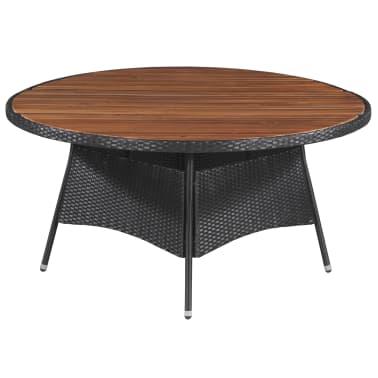 vidaXL Table de jardin 150x74cm Résine tressée et bois d ...