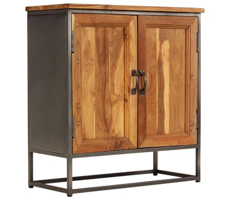 "vidaXL Sideboard Recycled Teak and Steel 25.6""x11.8""x27.6"""
