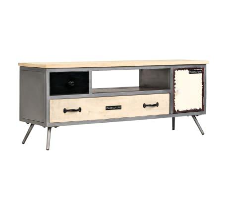 vidaXL TV spintelė, 120x30x45cm, mango medienos masyvas ir plienas