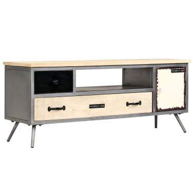 "vidaXL TV Cabinet Solid Mango Wood and Steel 47.2""x11.8""x17.7""[1/13]"