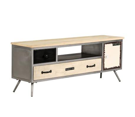 "vidaXL TV Cabinet Solid Mango Wood and Steel 47.2""x11.8""x17.7""[11/13]"
