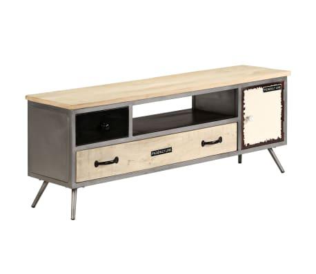 "vidaXL TV Cabinet Solid Mango Wood and Steel 47.2""x11.8""x17.7""[13/13]"