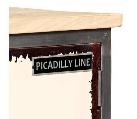 "vidaXL TV Cabinet Solid Mango Wood and Steel 47.2""x11.8""x17.7""[6/13]"