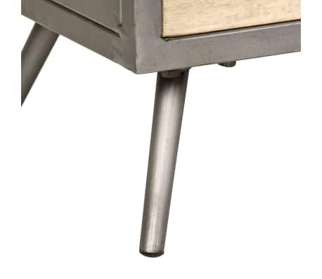 "vidaXL TV Cabinet Solid Mango Wood and Steel 47.2""x11.8""x17.7""[9/13]"