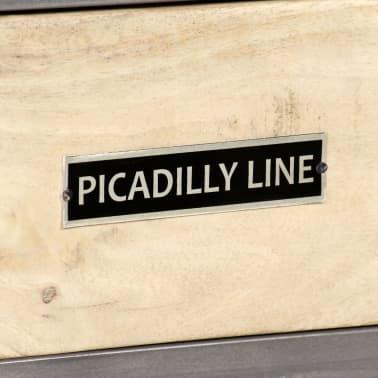 "vidaXL TV Cabinet Solid Mango Wood and Steel 47.2""x11.8""x17.7""[5/13]"