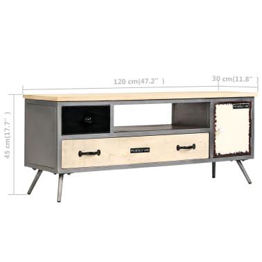 "vidaXL TV Cabinet Solid Mango Wood and Steel 47.2""x11.8""x17.7""[10/13]"