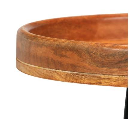 vidaXL 3d. staliukų komplektas, mango medienos masyvas ir plienas[6/17]