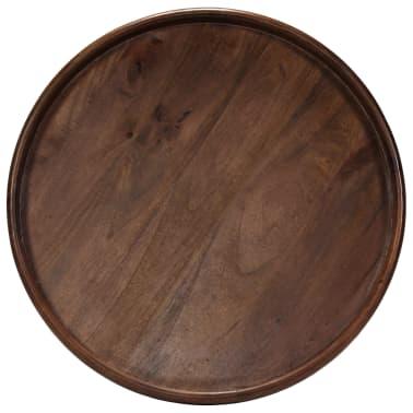 vidaXL 3d. staliukų komplektas, mango medienos masyvas ir plienas[2/17]