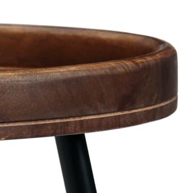 vidaXL 3d. staliukų komplektas, mango medienos masyvas ir plienas[3/17]