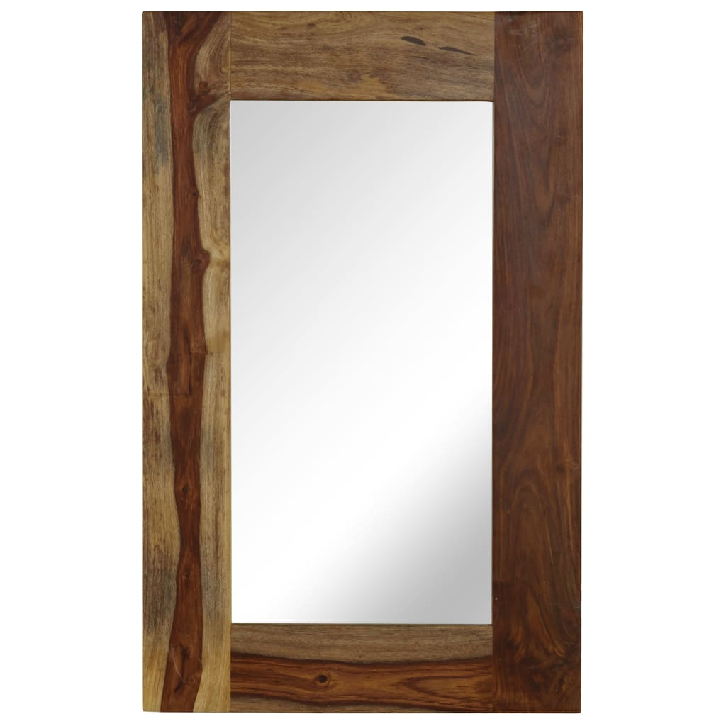 vidaXL Zrcadlo z masivního sheeshamového dřeva 50 x 80 cm