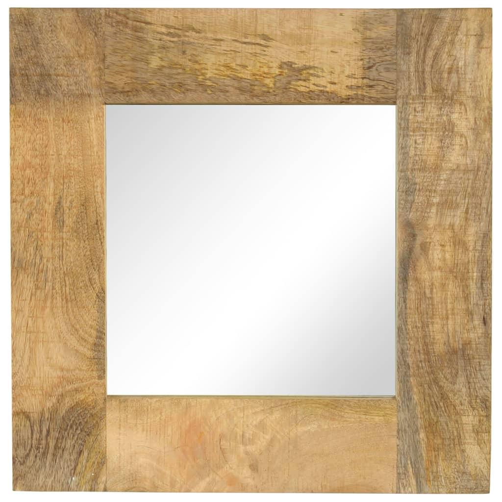 vidaXL Καθρέφτης 50 x 50 εκ. από Μασίφ Ξύλο Μάνγκο