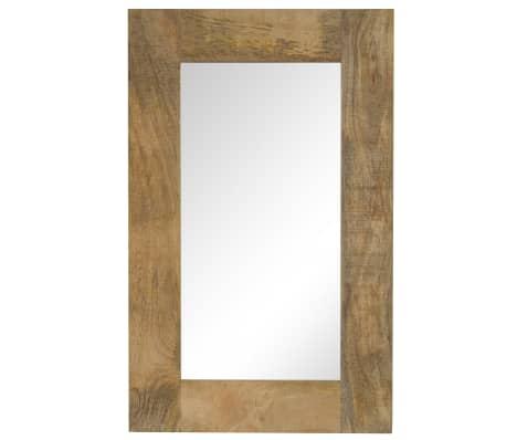 vidaXL Oglindă, lemn masiv de mango, 50 x 80 cm