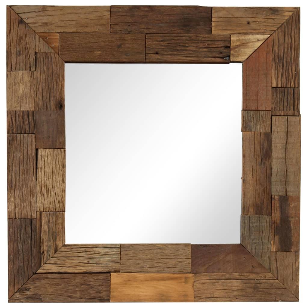 vidaXL Zrcadlo masivní recyklované dřevo 50 x 50 cm