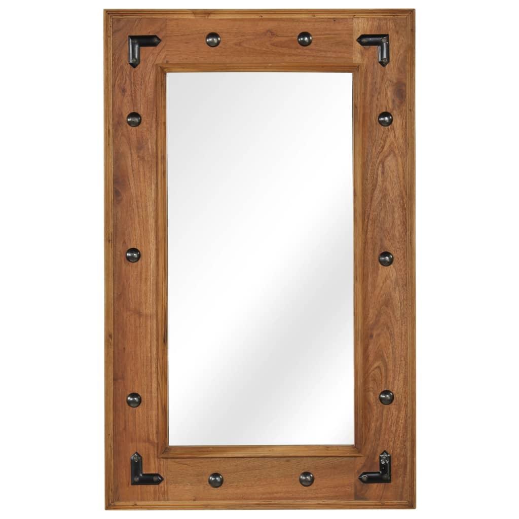 vidaXL Zrcadlo z masivního akáciového dřeva 50 x 80 cm