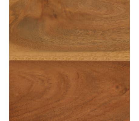 vidaXL Banquette Bois d'acacia massif et acier 160 x 40 x 45 cm[9/15]