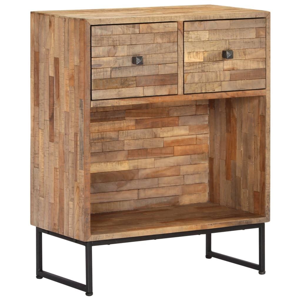 vidaXL Servantă, 60 x 30 x 75 cm, lemn de tec reciclat poza 2021 vidaXL