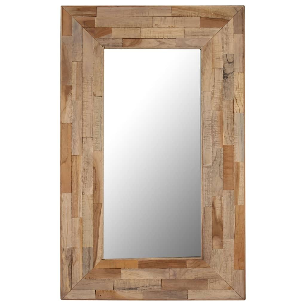 vidaXL újrahasznosított tíkfa keretű tükör 50 x 80 cm
