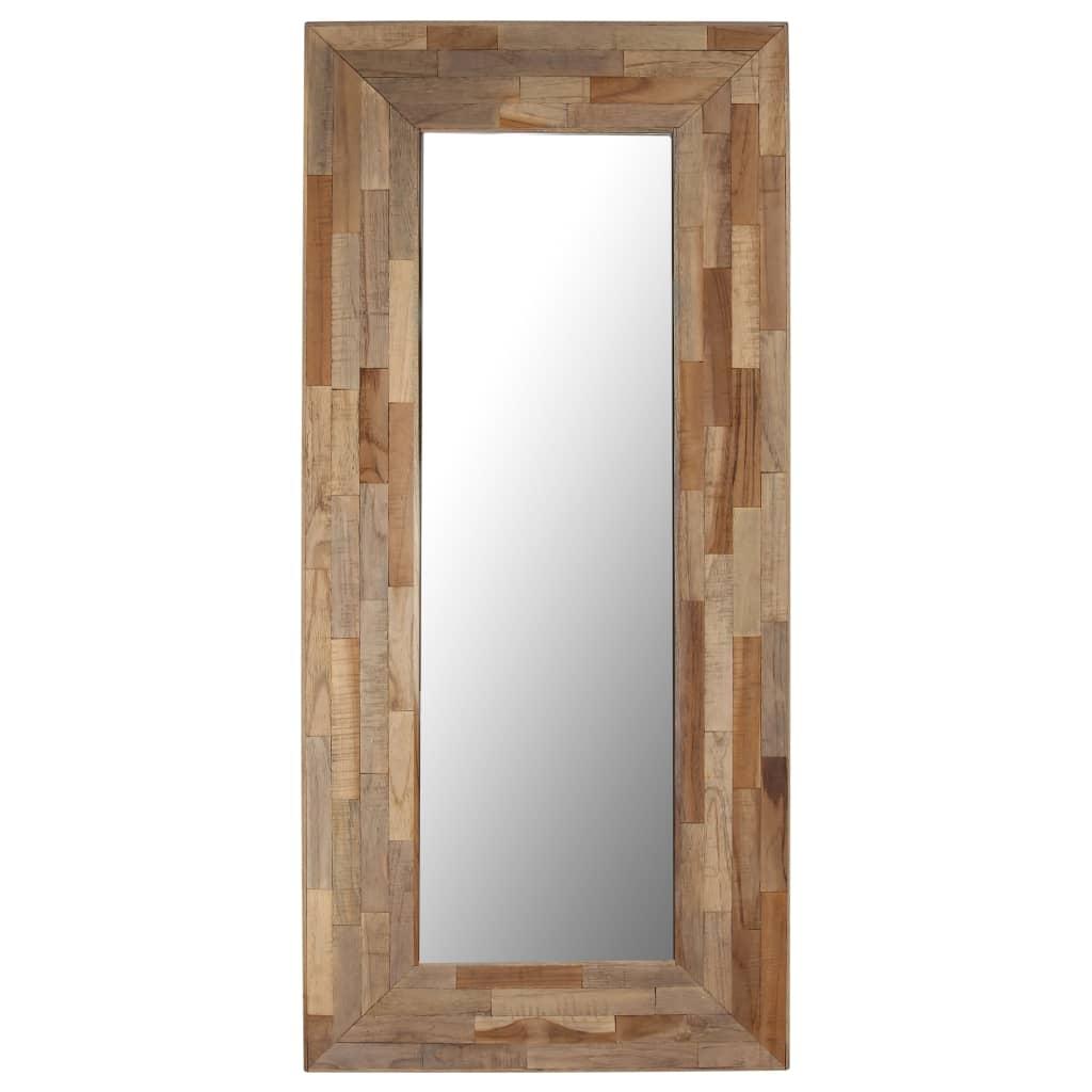 vidaXL Oglindă, 50 x 110 cm, lemn de tec reciclat poza vidaxl.ro