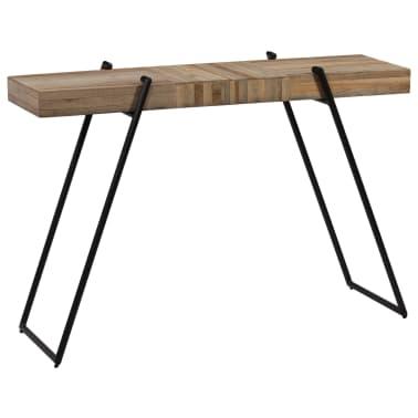 vidaXL Konsolinis staliukas, 120x35x81cm, perdirbta tikmedžio mediena[1/14]