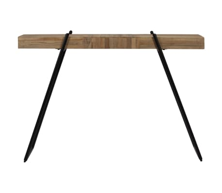 vidaXL Konsolinis staliukas, 120x35x81cm, perdirbta tikmedžio mediena[2/14]