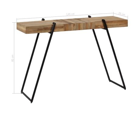 vidaXL Konsolinis staliukas, 120x35x81cm, perdirbta tikmedžio mediena[11/14]