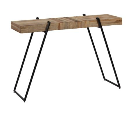 vidaXL Konsolinis staliukas, 120x35x81cm, perdirbta tikmedžio mediena[13/14]