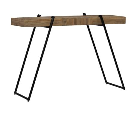 vidaXL Konsolinis staliukas, 120x35x81cm, perdirbta tikmedžio mediena[3/14]