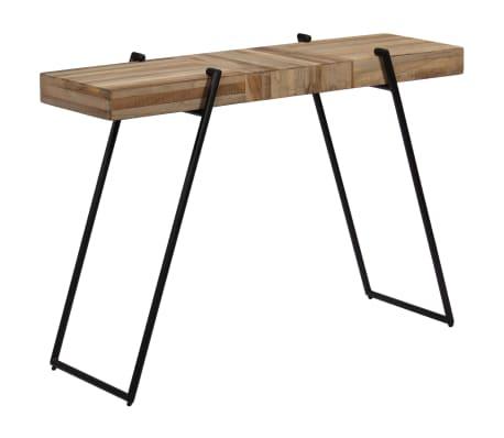 vidaXL Konsolinis staliukas, 120x35x81cm, perdirbta tikmedžio mediena[4/14]