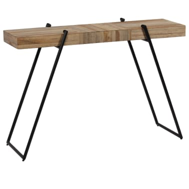 vidaXL Konsolinis staliukas, 120x35x81cm, perdirbta tikmedžio mediena[12/14]
