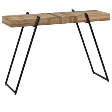 vidaXL Konsolinis staliukas, 120x35x81cm, perdirbta tikmedžio mediena[14/14]