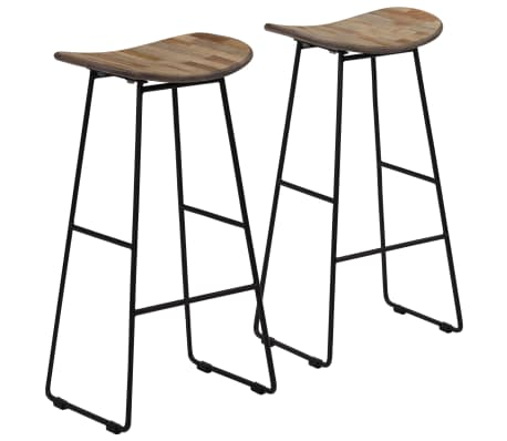 vidaXL Bar Chairs 2 pcs Reclaimed Teak[1/14]