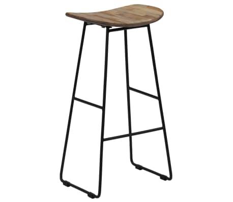 vidaXL Bar Chairs 2 pcs Reclaimed Teak[11/14]