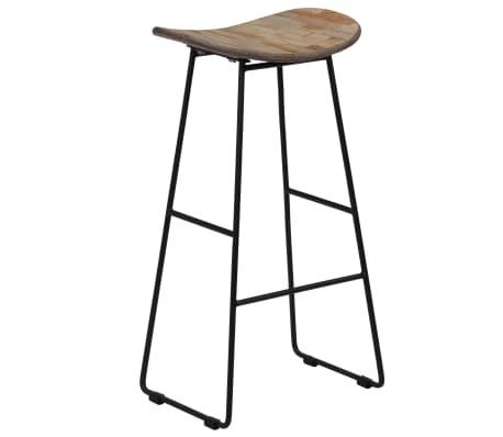 vidaXL Bar Chairs 2 pcs Reclaimed Teak[12/14]