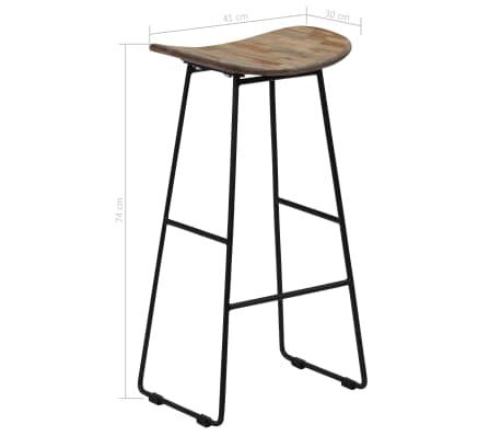 vidaXL Bar Chairs 2 pcs Reclaimed Teak[14/14]
