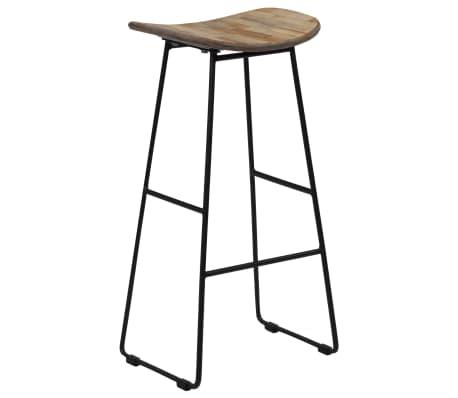 vidaXL Bar Chairs 2 pcs Reclaimed Teak[10/14]