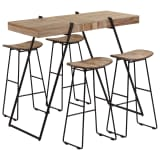 vidaXL 5 Piece Bar Set Reclaimed Teak