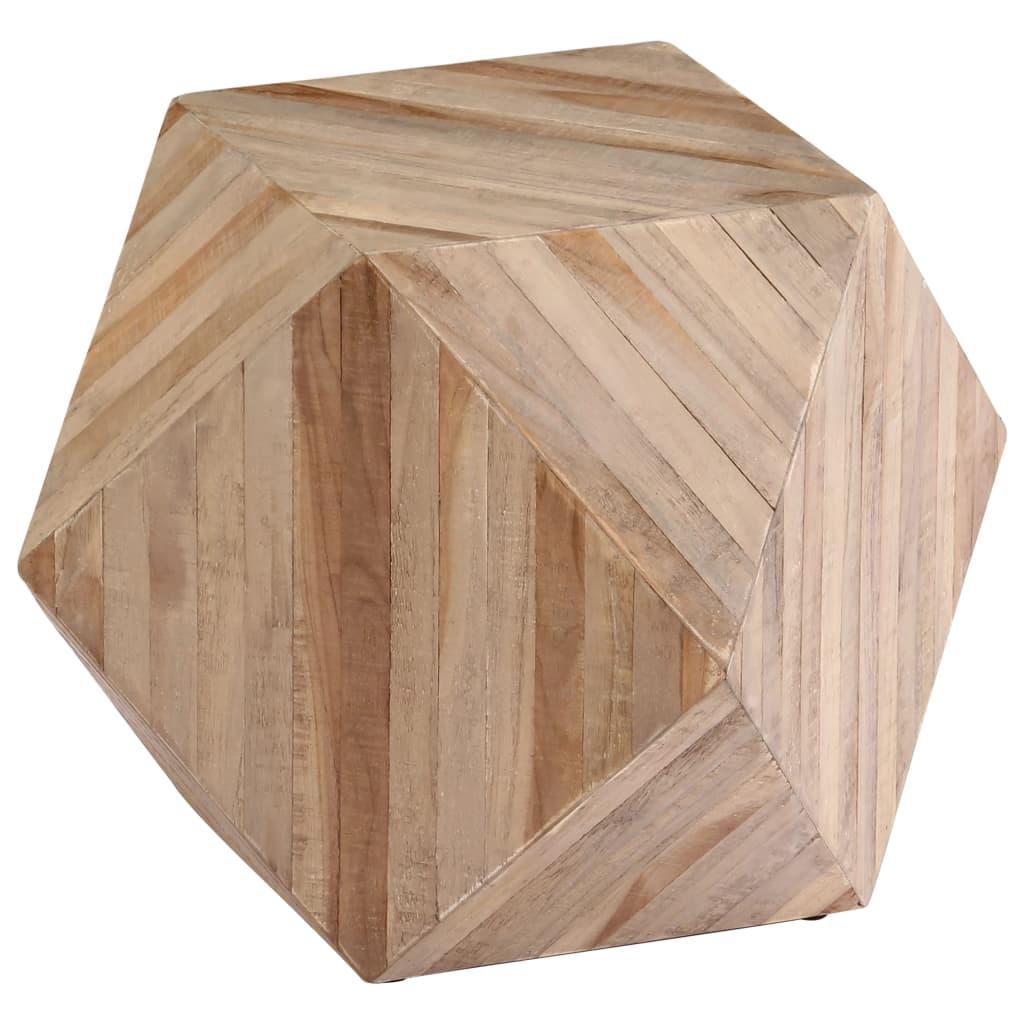vidaXL Masă laterală, 40 x 40 x 40 cm, lemn de tec reciclat imagine vidaxl.ro