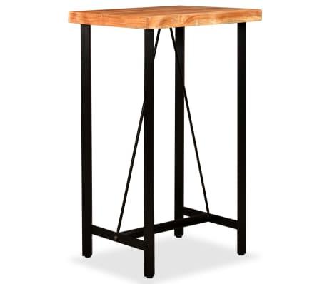 vidaXL Bar Set 3 Pieces Solid Sheesham Wood and Genuine Leather[11/19]