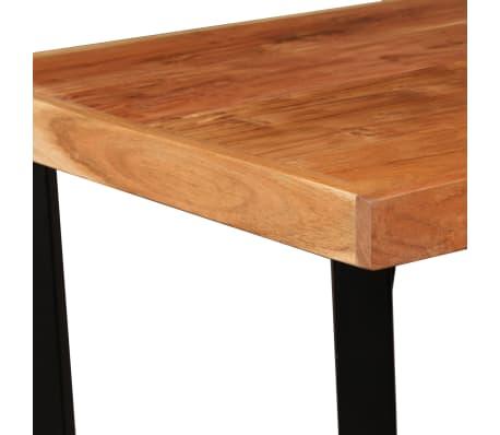 vidaXL Bar Set 3 Pieces Solid Sheesham Wood and Genuine Leather[4/19]