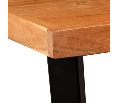 vidaXL Bar Set 3 Pieces Solid Sheesham Wood and Genuine Leather[5/19]