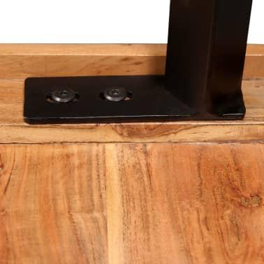 vidaXL Bar Set 3 Pieces Solid Sheesham Wood and Genuine Leather[8/19]