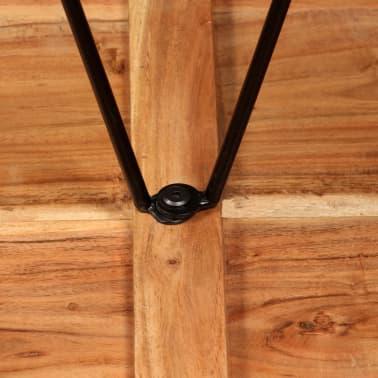 vidaXL Bar Set 3 Pieces Solid Sheesham Wood and Genuine Leather[9/19]