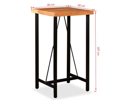 vidaXL Bar Set 3 Pieces Solid Sheesham and Reclaimed Wood[15/16]
