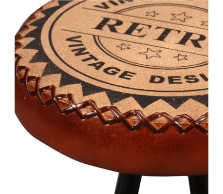 vidaXL Mesa y taburetes bar madera maciza sheesham cuero real y lona[11/16]